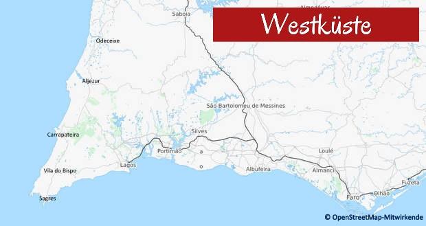 Übersichtskarte Westküste