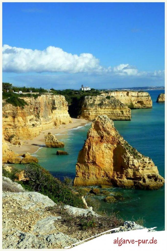 Strände der Algarve in Portugal: Praia Marinha
