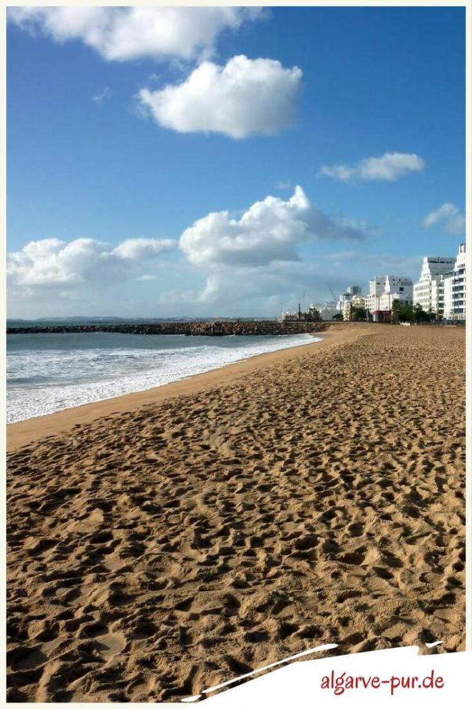 Strände der Algarve in Portugal: Praia Quarteira