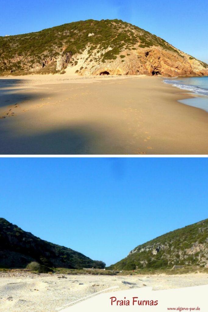 Der Praia Furnas ist ein abgelegener Strand. Klein und wunderschön. Er befindet sich zwischen Lagos und Sagres an der Felsalgarve und ist über den Ort Figueira zu erreichen.