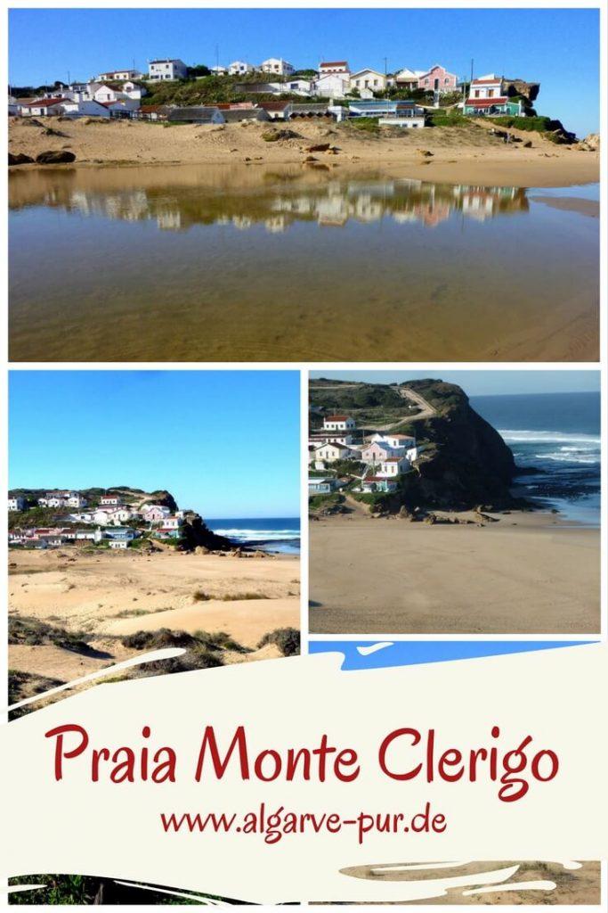 Lieblingsstrand #4 Praia de Monte Clérigo An der Westküste der Algarve gibt es einfach die schönsten Strände. Auch wenn das Wetter hier etwas rauer ist, die Luft kühler ist, als an der Südküste und die Wellen höher – die Strände könnten großartiger nicht sein.