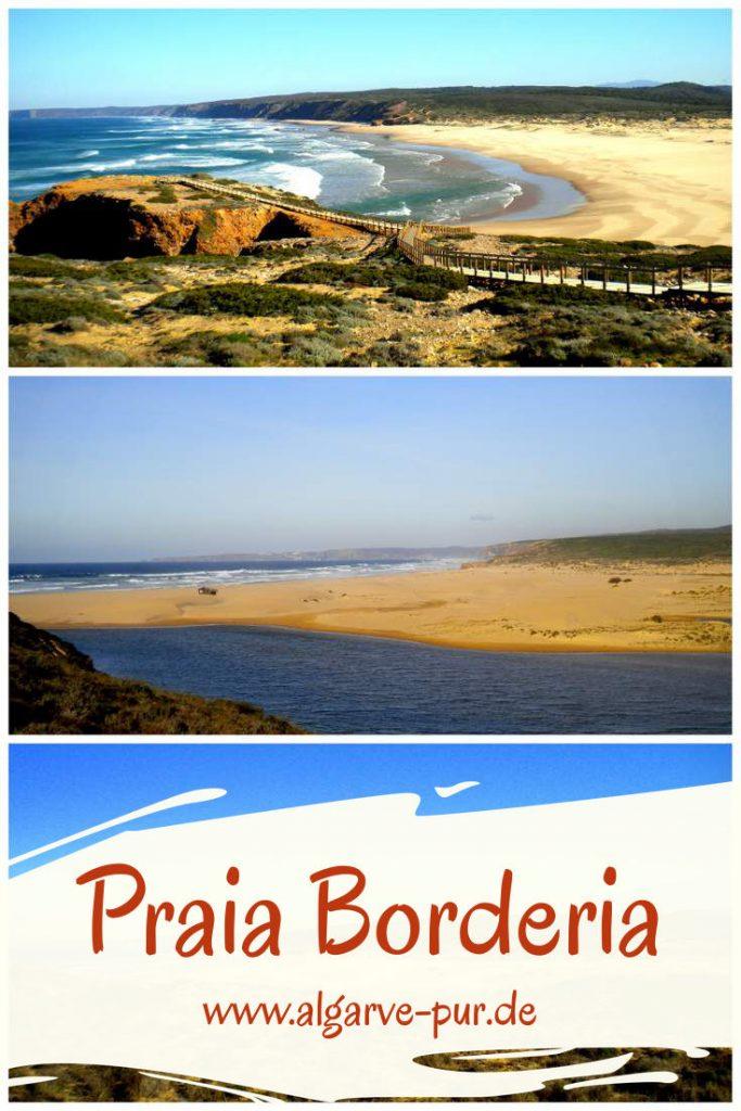 Lieblingsstrand #3 – Praia da Bordeira Eine wilde Schönheit. Sanddünen, Brandung und Klippen – ein Strand wie aus einem Abenteuerfilm. Der Praia da Bordeira liegt an der Westküste der Algarve. Etwas abgeschieden und weit entfernt vom großen Trubel.