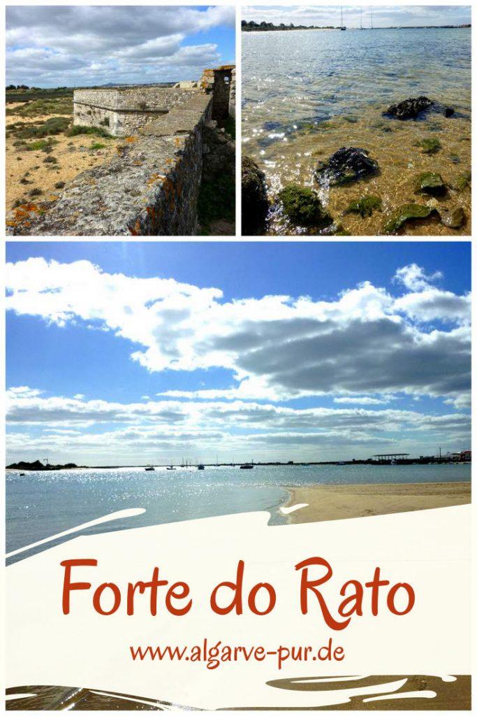 Etwas außerhalb von Tavira stehen die Mauerreste einer alten Festung. Die vorgelagerte Insel Ilha de Tavira schützt die Lagune vor dem Einfluss des Meeres, so dass im flachen Wasser der Ria Formosa entspannt gebadet werden kann. Es gibt keine weiteren Einrichtungen, keine Badeaufsicht und keine sanitären Einrichtungen.