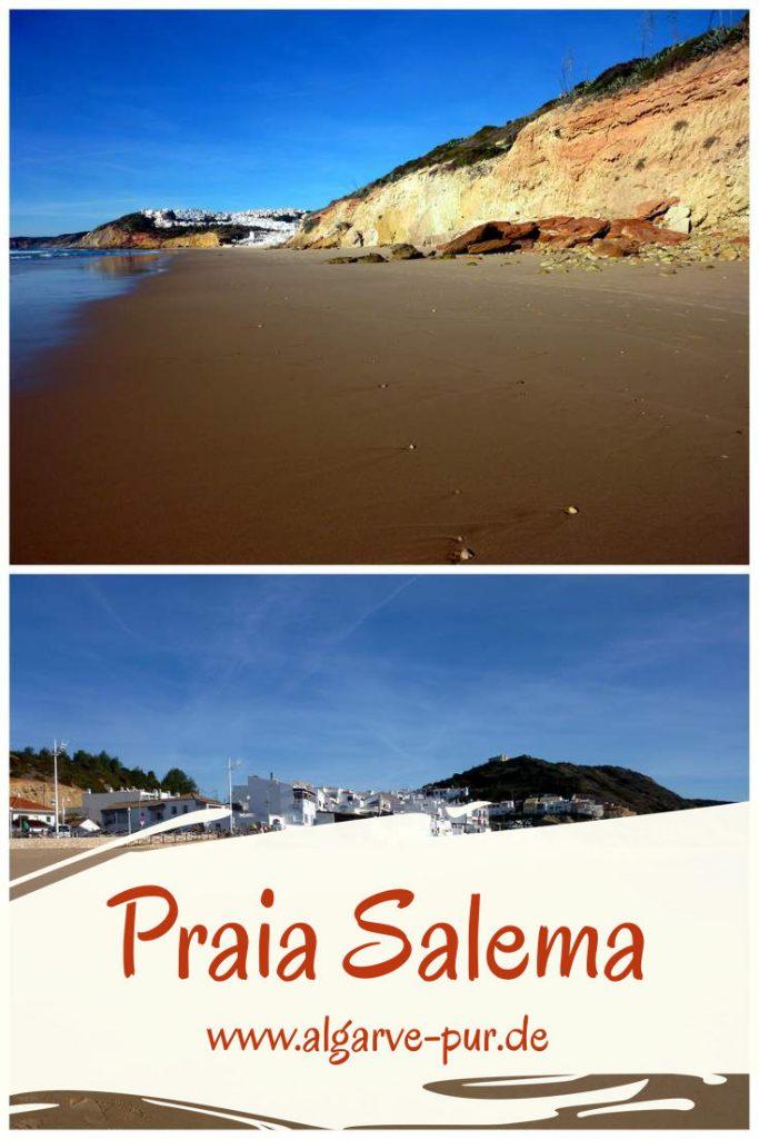 Der kleine Ort Salema an der Felsalgarve ist ein super Ziel für einen Familienurlaub. Der Strand befindet sich direkt an der Ortschaft. Die Wege sind kurz. Es gibt viele kleine Läden, Restaurants und Bars, sanitäre Einrichtungen und eine Badeaufsicht in der der Hochsaison. Es weht die Blaue Flagge.