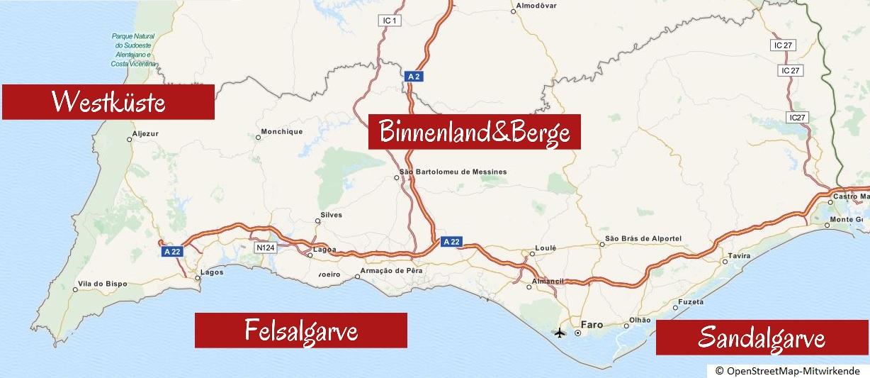 Algarve Übersichtskarte