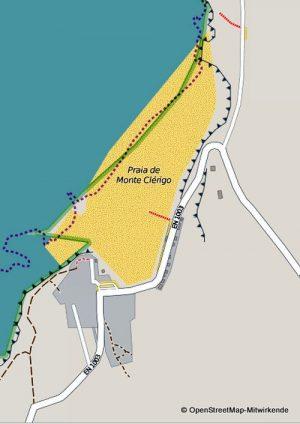 Karte Monte Clerigo