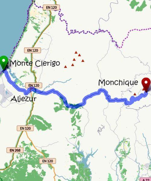 von Monte Clerigo nach Aljezur