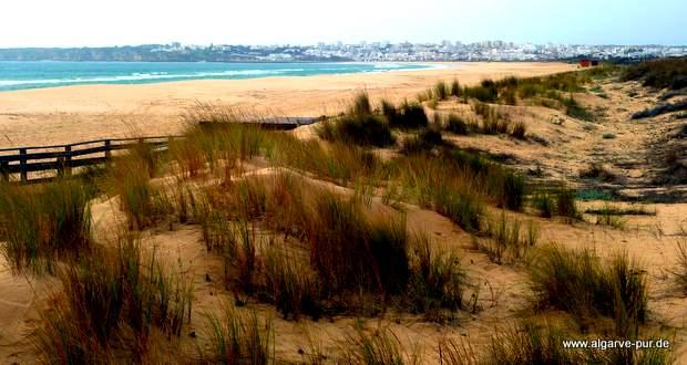 Der Meia Praia bei Lagos in der Algarve, Portugal
