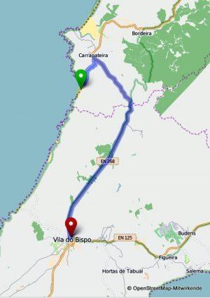 Carrapateira Route Amado Vila do Bispo
