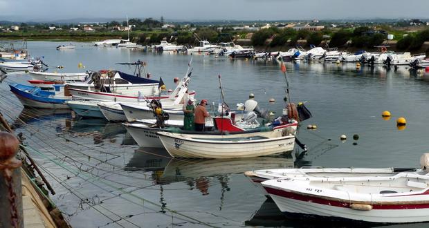Der Hafen von Fuseta Urlaub in Fuseta, Fuzeta an der Sandalgarve, Algarve, Portugal