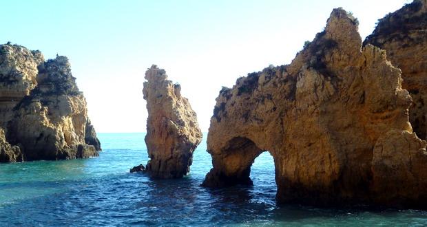 Highlight an der Fels-Algarve, Ponta da Piedade, Lagos, Portugal