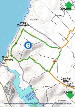 Karte Amoreira Strandrundweg
