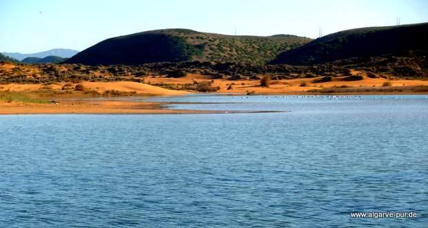 Lagune Ribeira da Carrapateira, Algarve, Portugal