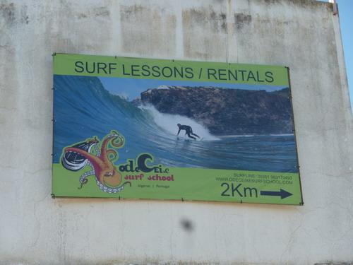Odeceixe - Stadtrundgang Reklame Surfschule