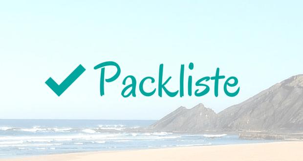 Algarve Packliste
