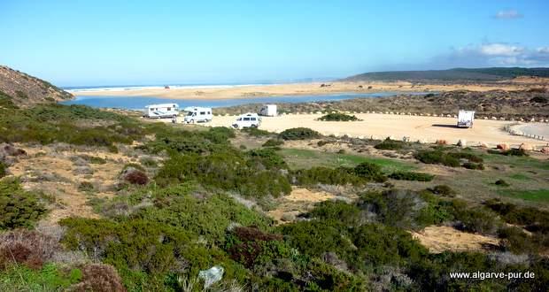 Parkplatz Praia da Bordeira, Algarve, Portugal