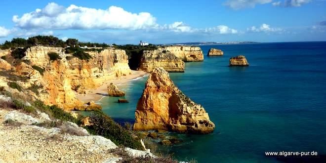 Ferragudo Strand: Praia Marinha