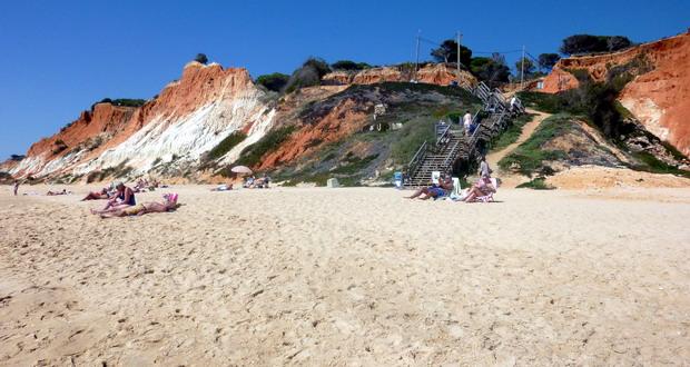 Urlaub am Praia da Falésia, Quarteira, Algarve, Portugal