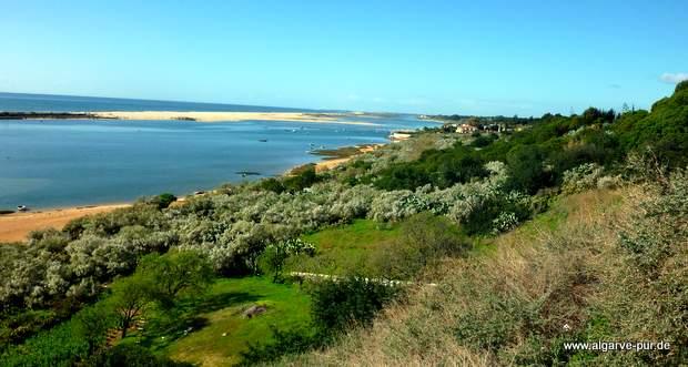 Ausblick auf die Lagune Ria Formosa