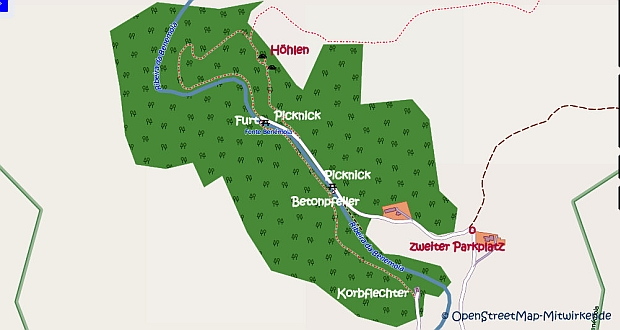 Wanderweg Fonte Benémola groß